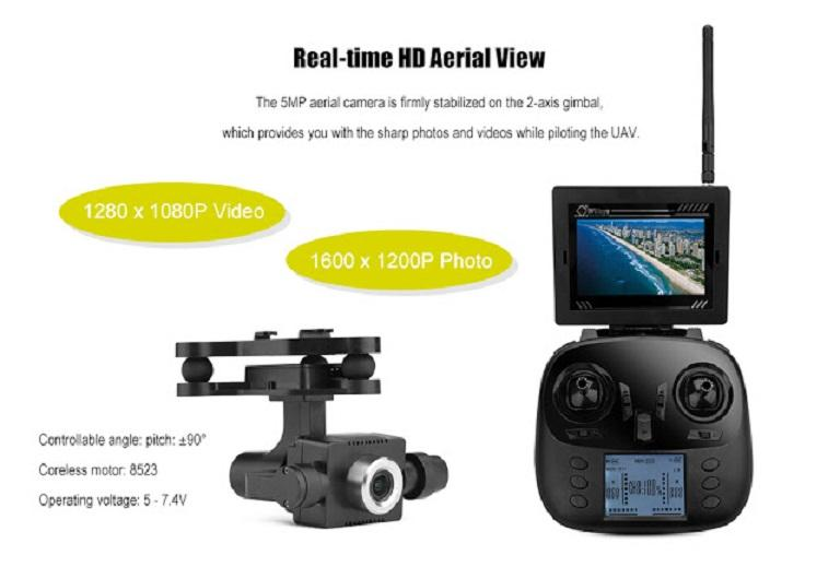 Camera 1080p HD của flycam WLToys Q696-A