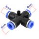 Đầu nối chữ thập 4 hướng nhựa nối ống 8mm - 8mm