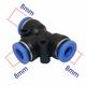Đầu nối chữ T nhựa nối ống 8mm