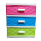Tủ nhựa 3 ngăn nhiều màu xếp gọn