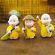 Bộ tượng 3 Chú Tiểu áo vàng