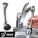 Vòi xịt tăng áp rửa bát Turbo Flex xoay được 360 độ