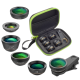 Bộ lens marco chụp cận cảnh và góc rộng - Apexel Universal 6 In 1