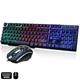 Combo bàn phím giả cơ và chuột game Limeide GTX300 led đa màu