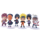 Bộ 6 tương nhân vật Naruto Chibi N3 - 7cm trang trí góc Gaming