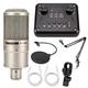 Combo mic PC K200, Soundcard T8, Chân màn giá kẹp
