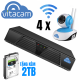 Bộ Kit camera IP NVR Boba 01 - 4 x VT1080 và đầu ghi kèm ổ 2TB (Trong Nhà)