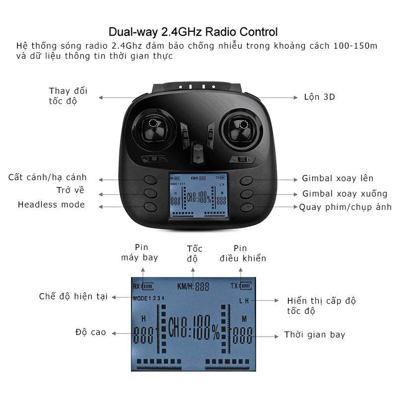 Tay điều khiển của flycam WLToys Q696-A