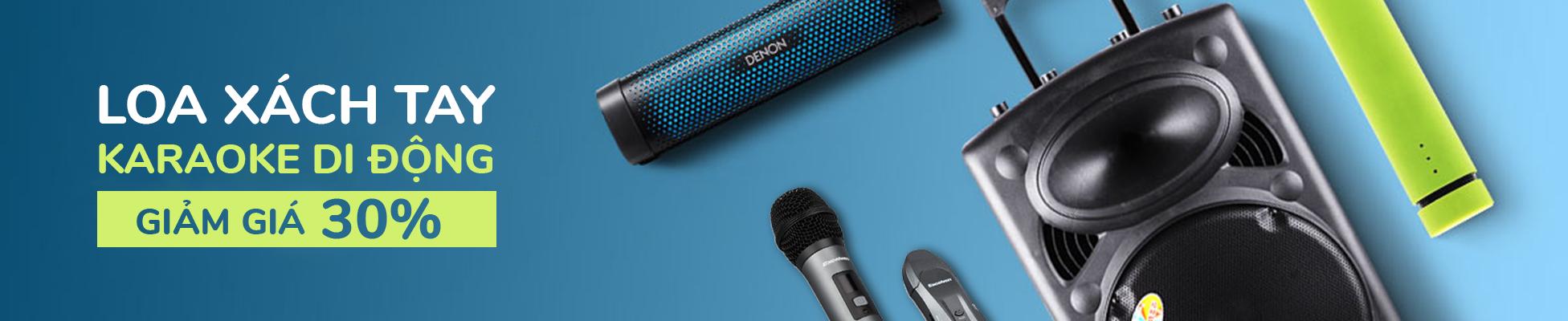 Loa xách tay karaoke bluetooth di động giá rẻ, bảo hành tại TP.CHM