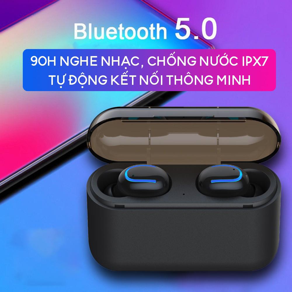 Bộ tai nghe Bluetooth không dây TWS HBQ Q32 - Chống nước IPX5 nghe 60 giờ