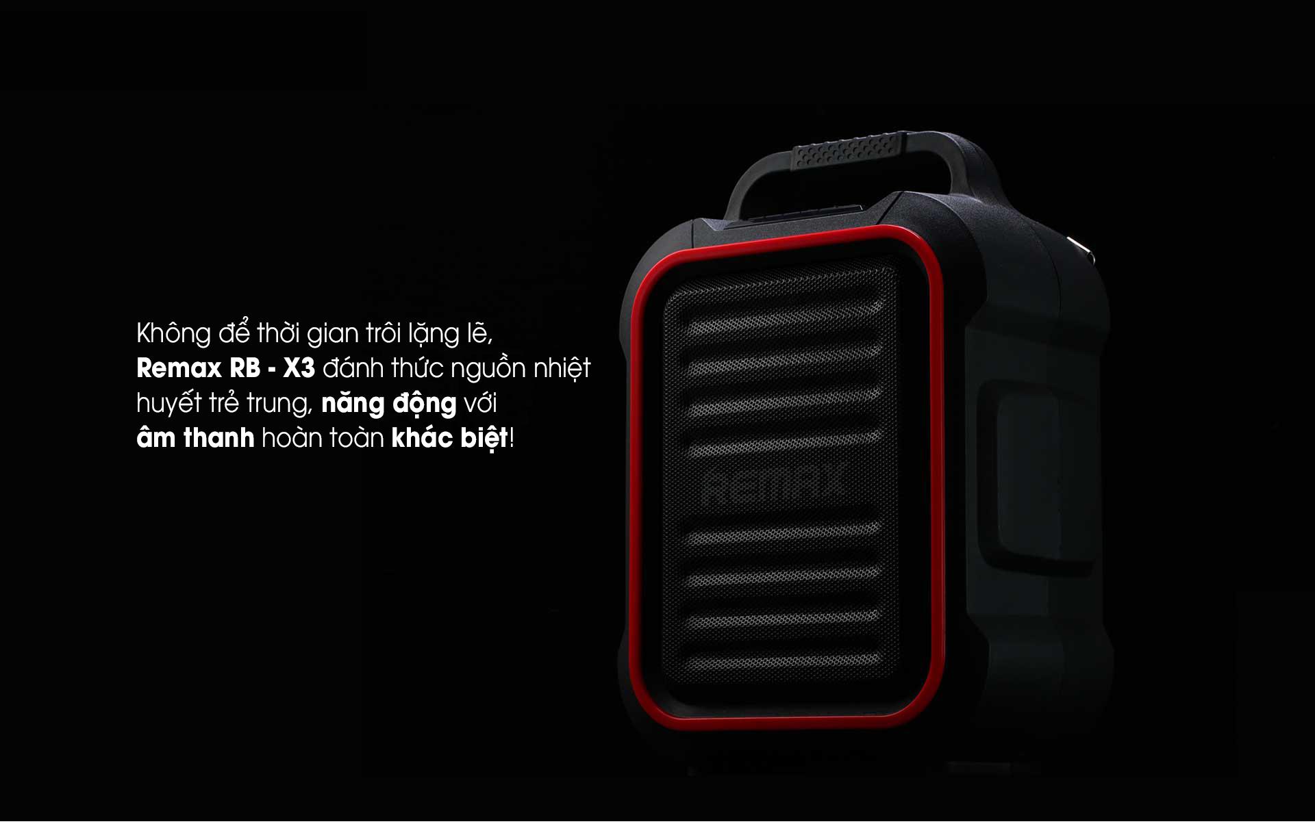 Loa xách tay karaoke bluetooth Remax X3 chính hãng giá rẻ tại TP HCM