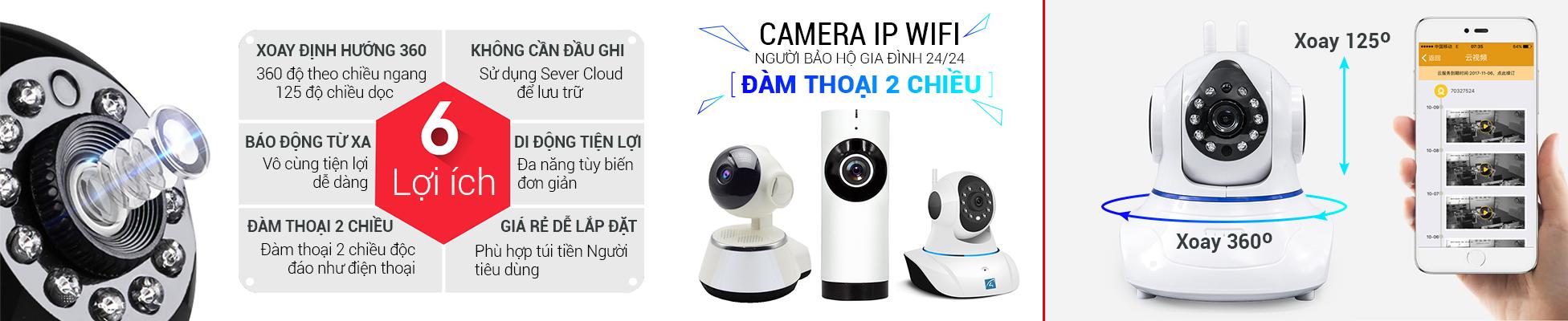 Camera ip wifi thông minh không dây giám sát giá rẻ tại TP HCM
