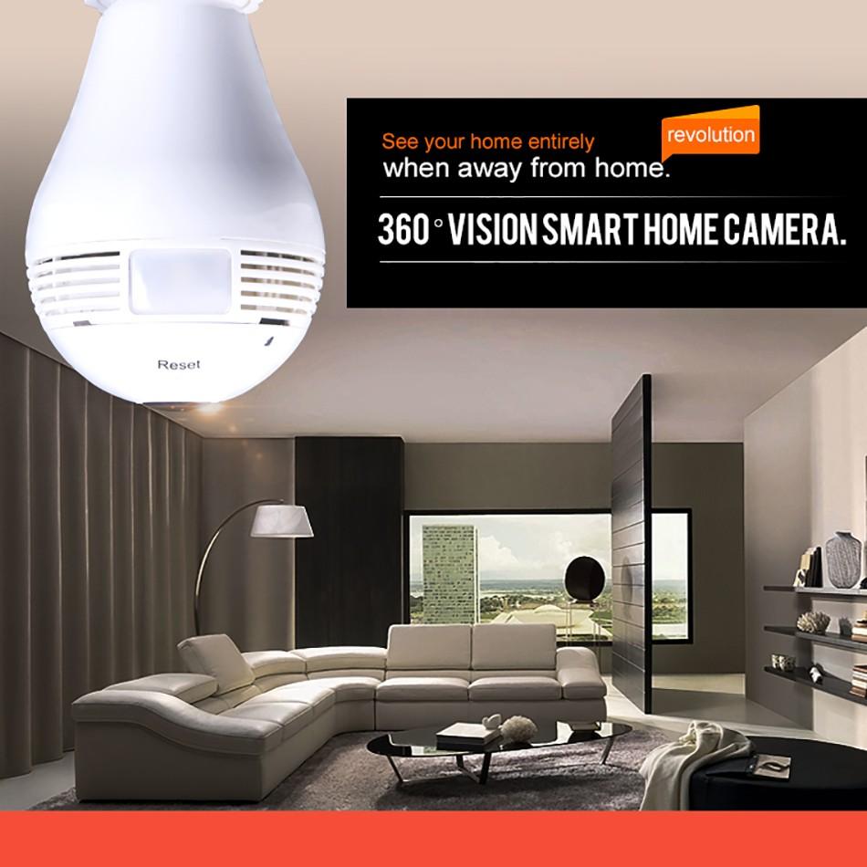 Camera ngụy trang bóng đèn BD626 IP Wifi đàm thoại 2 chiều