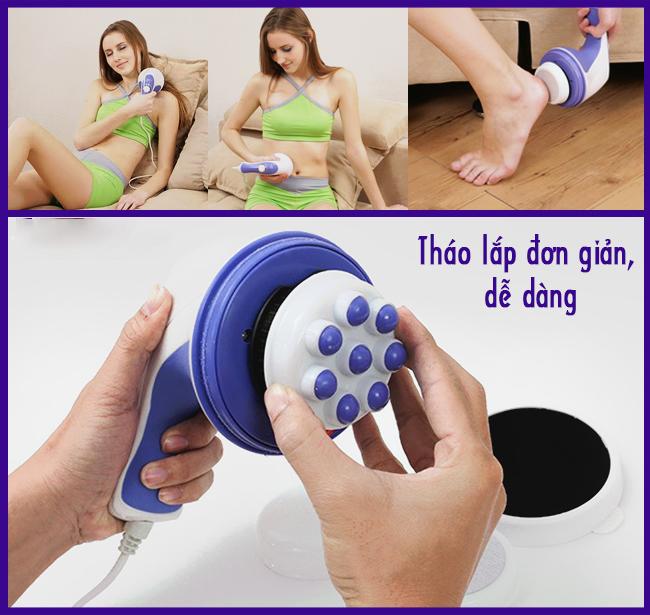 Máy massage cầm tay Relax Spin Tone A781 4 đầu