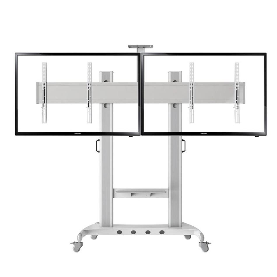 Cột treo 2 tivi di động AVT 1800 - 2A ( 32 - 65 inch ) - Hợp kim nhôm