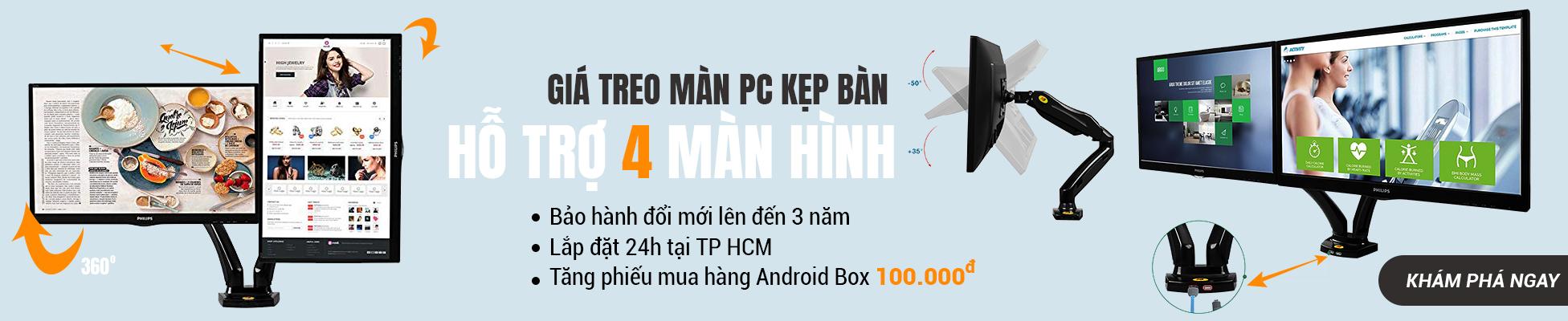 Giá treo màn PC đơn, kép tay chụp sang trọng hiện đại mẫu mã đa dạng